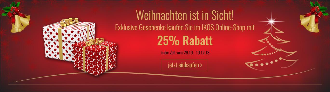 Weihnachten 2018 IKOS Rabatt 25%