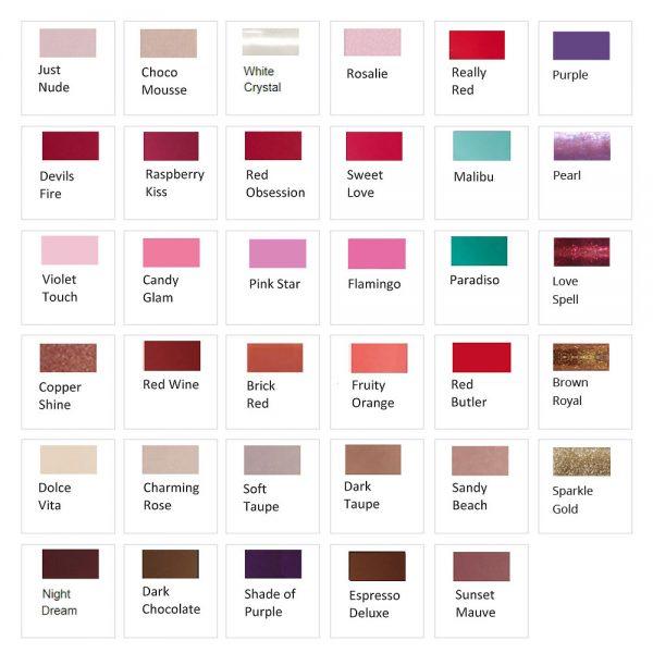Colour Repair: Farbübersicht