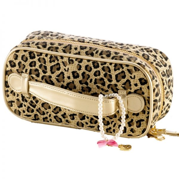 Leopardenprint Kosmetiktasche Little Diva